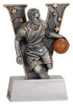 Male Basketball V Series Resin Basketball Trophy Awards