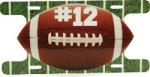 Aluminum Football Action License Plate Football Trophy Awards