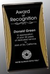 Black/Gold Standing Reflection Acrylic Award Recognition Plaque Square Rectangle Awards